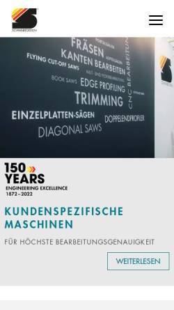 Vorschau der mobilen Webseite www.schwabedissen.de, Schwabedissen Maschinen + Anlagen GmbH
