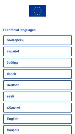 Vorschau der mobilen Webseite europa.eu, Europa