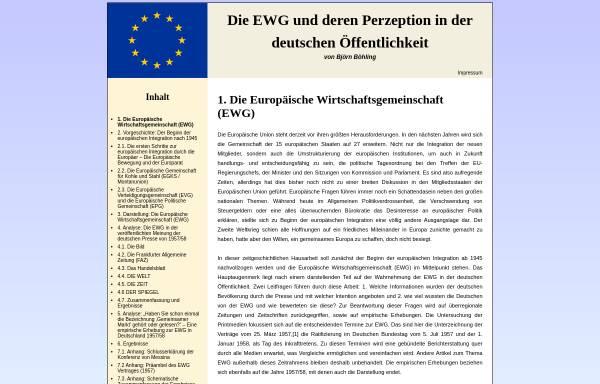 Vorschau von www.europaeische-wirtschaftsgemeinschaft.de, Die Europäische Wirtschaftsgemeinschaft