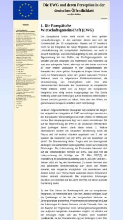 Vorschau der mobilen Webseite www.europaeische-wirtschaftsgemeinschaft.de, Die Europäische Wirtschaftsgemeinschaft