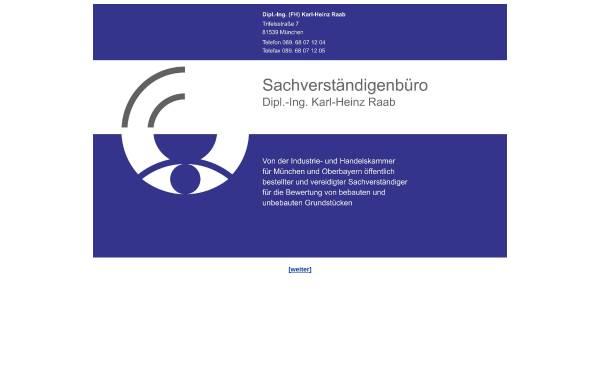 Vorschau von www.gutachter-raab.de, Raab, Karl - Heinz Dipl.-Ing.