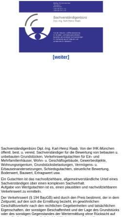 Vorschau der mobilen Webseite www.gutachter-raab.de, Raab, Karl - Heinz Dipl.-Ing.
