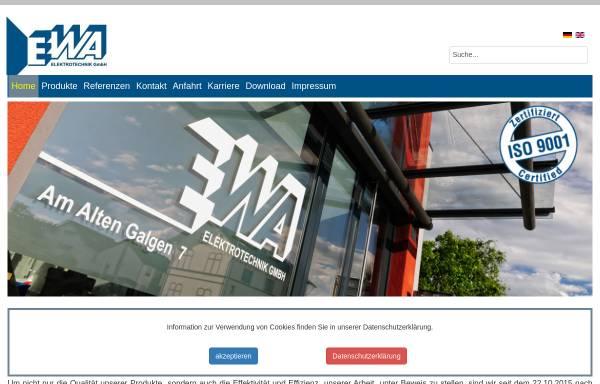 Vorschau von www.ewa.de, EWA - Elektrotechnik Wachenheim GmbH