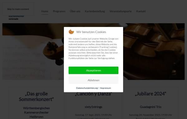 Vorschau von www.wachenheimer-serenade.de, Freundeskreis Wachenheimer Serenade e.V.