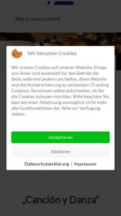 Vorschau der mobilen Webseite www.wachenheimer-serenade.de, Freundeskreis Wachenheimer Serenade e.V.