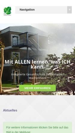 Vorschau der mobilen Webseite www.igs-deiwa.de, Integrierte Gesamtschule Deidesheim/Wachenheim