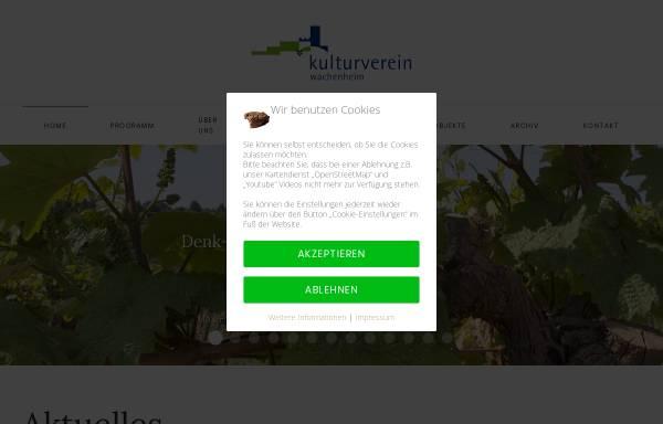 Vorschau von www.kulturverein-wachenheim.de, Kulturverein Wachenheim/Weinstraße e.V.