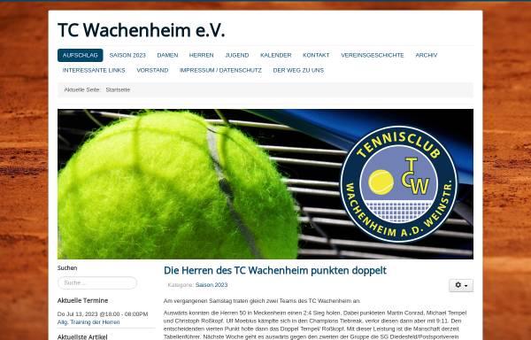 Vorschau von www.tc-wachenheim.de, Tennisclub Wachenheim e.V.