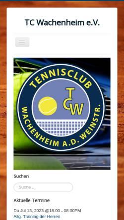 Vorschau der mobilen Webseite www.tc-wachenheim.de, Tennisclub Wachenheim e.V.