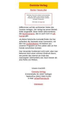 Vorschau der mobilen Webseite www.genista.de, Genista-Verlag