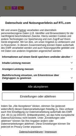 Vorschau der mobilen Webseite www.guj.de, Gruner + Jahr AG & Co