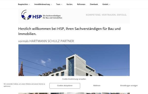 Vorschau von hartmann-schulz-partner.de, Sachverständiger Hartmann und Schulz, Gutachter bei Wertermittlung und Bauschaden