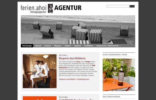 Vorschau von www.ferien-ahoi.de, Ferien Ahoi Verlagsagentur