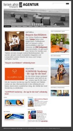 Vorschau der mobilen Webseite www.ferien-ahoi.de, Ferien Ahoi Verlagsagentur