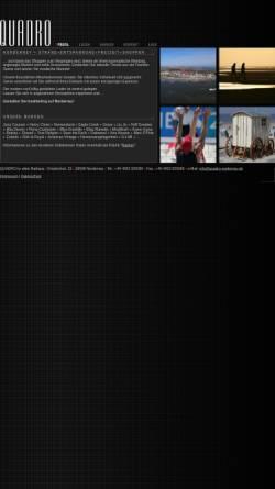 Vorschau der mobilen Webseite www.quadro-norderney.de, Quadro im alten Rathaus