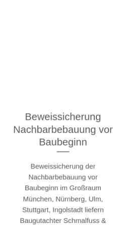 Vorschau der mobilen Webseite bausachverstaendige.info, Schmalfuß GmbH