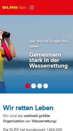 Vorschau der mobilen Webseite freiburg.dlrg.de, DLRG Ortsgruppe Freiburg e.V.