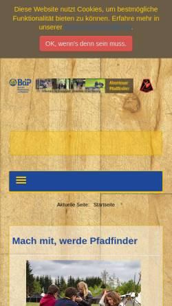 Vorschau der mobilen Webseite www.schwarzer-haufen.de, BdP - Stamm Schwarzer Haufen