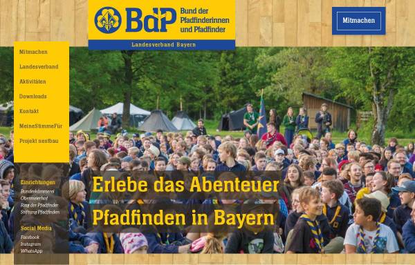 Vorschau von bayern.pfadfinden.de, BdP Landesverband Bayern
