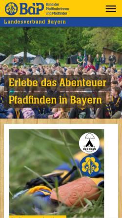 Vorschau der mobilen Webseite bayern.pfadfinden.de, BdP Landesverband Bayern