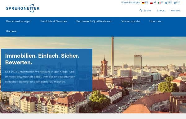 Vorschau von www.sprengnetter.de, Sprengnetter GmbH