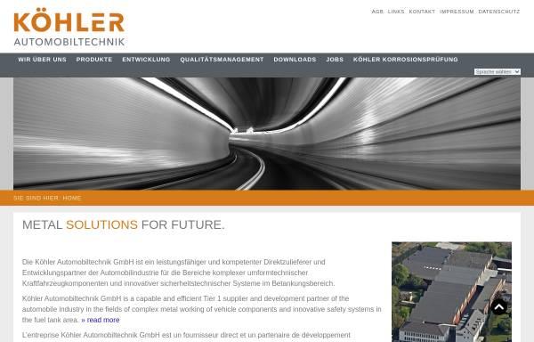 Vorschau von www.durakoehler.de, Dura Automotive Systems Koehler GmbH
