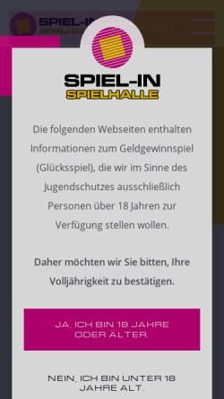 Vorschau der mobilen Webseite www.spiel-in.de, Spielen in Bochum