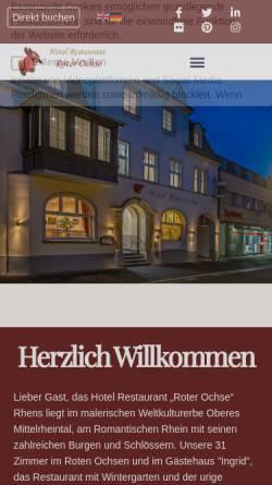 Vorschau der mobilen Webseite www.roter-ochse.de, Restaurant Roter Ochse