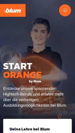 Vorschau der mobilen Webseite www.lehre-bei-blum.at, Lehre bei Blum