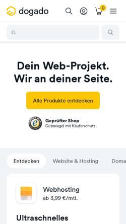 Vorschau der mobilen Webseite www.dogado.de, dogado Internet GmbH