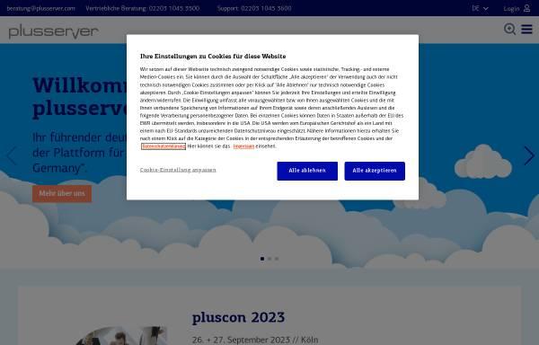 Vorschau von www.plusserver.de, PlusServer AG