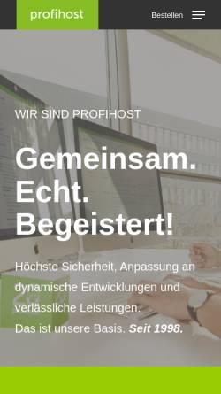 Vorschau der mobilen Webseite www.profihost.com, Profihost AG