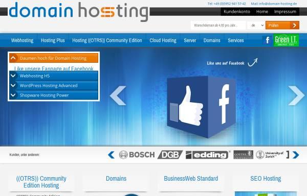 Vorschau von www.domain-hosting.de, Stefla Web GmbH & Co. KG