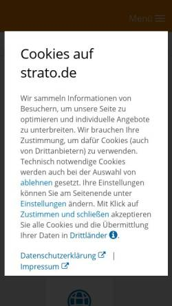 Vorschau der mobilen Webseite strato.de, Strato AG