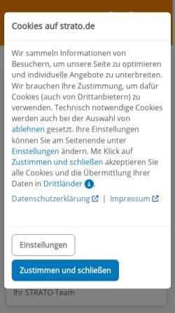 Vorschau der mobilen Webseite www.strato.de, Strato AG