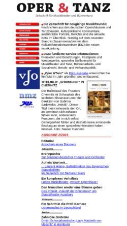 Vorschau der mobilen Webseite www.operundtanz.de, Oper & Tanz