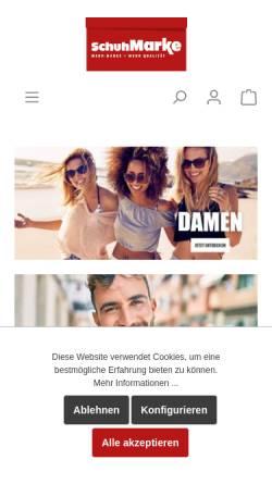 Vorschau der mobilen Webseite www.schuh-marke.de, Schuh Marke GmbH & Co. KG
