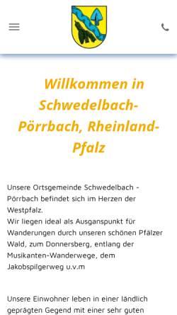 Vorschau der mobilen Webseite schwedelbach.de, Gemeinde Schwedelbach