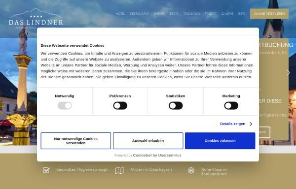 Vorschau von www.lindners.net, Lindner's Hotel-Restaurant