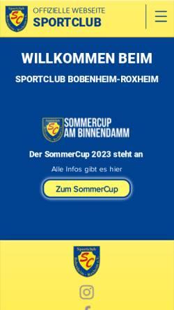 Vorschau der mobilen Webseite www.scbobenheimroxheim.de, SC Bobenheim-Roxheim
