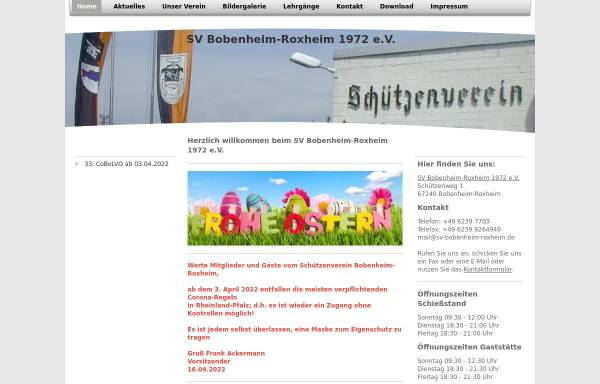 Vorschau von www.sv-bobenheim-roxheim.de, SV Bobenheim-Roxheim 1972 e.V.
