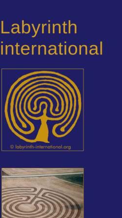 Vorschau der mobilen Webseite www.labyrinth-international.org, Labyrinth-Project International