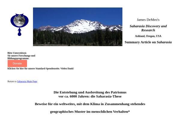 Vorschau von www.orgonelab.org, Ursprünge und Ausbreitung des Patriarchats
