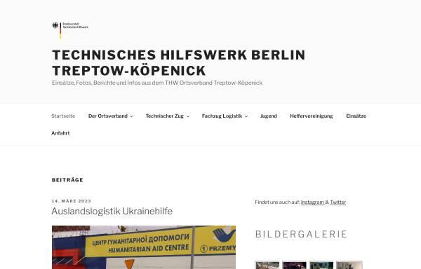 Vorschau von www.thw-treptow.de, THW Ortsverband Treptow-Köpenick
