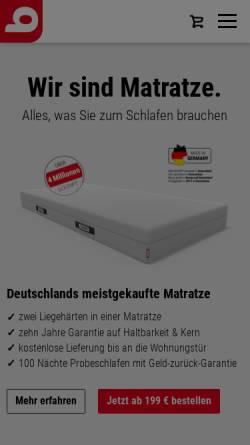 Vorschau der mobilen Webseite bett1.de, Bett1.de GmbH, Adam Szpyt