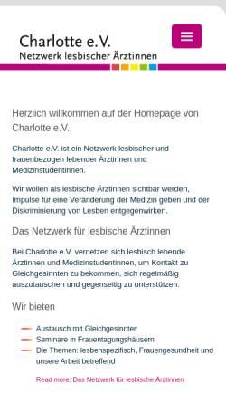 Vorschau der mobilen Webseite www.netzwerk-charlotte.de, Charlotte e.V.