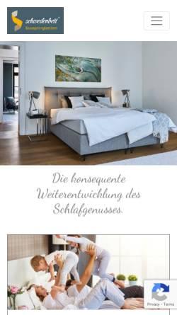 Vorschau der mobilen Webseite schwedenbett.de, Cubera GmbH, Thomas Hoff
