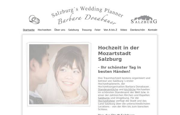 Vorschau von www.donabauer.org, Hochzeitsorganisation Barbara Donabauer