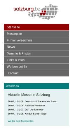 Vorschau der mobilen Webseite www.salzburg.bz, Salzburg.bz