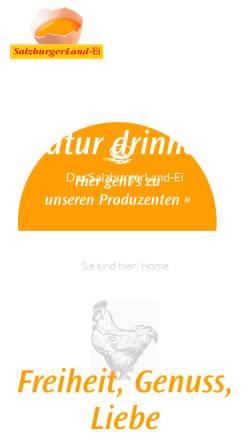 Vorschau der mobilen Webseite www.salzburgerland-ei.at, SalzburgerLand Ei
